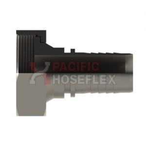 BSM-316-SS-FLAT-FACE-LINER-(CIP)-x-HEX-NUT-x-PTFE-HOSETAIL