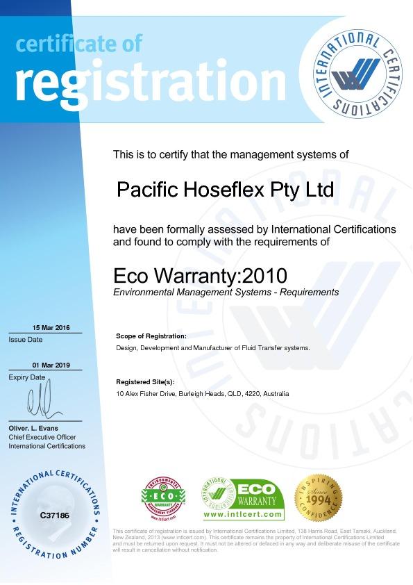 Eco Warranty : 2010
