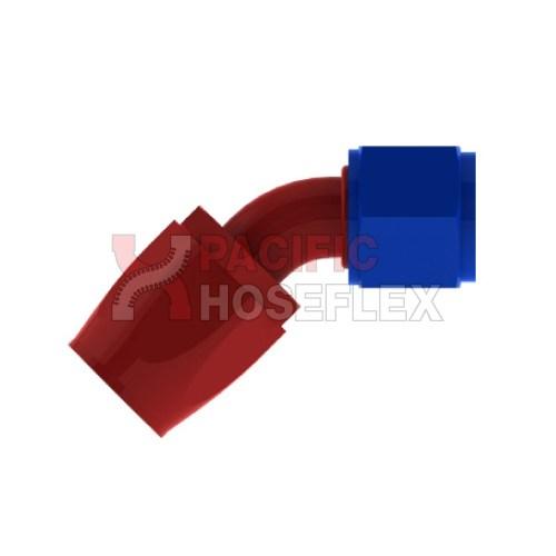 red blue aluminium 100 series hose ends