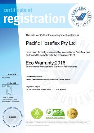Eco Warranty : 2016